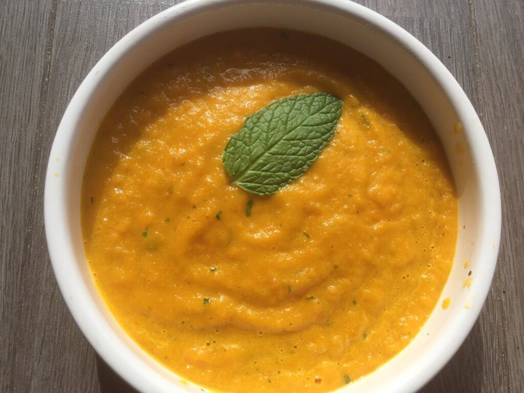 recette gaspacho carottes menthe